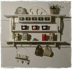 Wandregale - Wandregal, Gewürzregal,  Küchenregal, Shabby  - ein Designerstück von Ansolece bei DaWanda