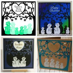 Create a Snowman Family...........SVG, FCM & MTC ............Commercial Use Allowed by CraftaholicCreation on Etsy