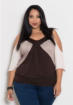 Molly Color Block Top $39.90 by SWAK Designs #swakdesigns #PlusSize #Curvy