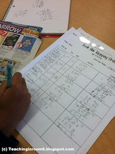 Students use the Scholastic Book Order form to practice manipulating decimals.