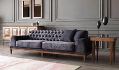 Nepal triple sofa quilted wooden leg – medusa home Living Room Sofa Design, Living Room Decor, Sofa Set Price, Wooden Sofa Set Designs, Living Room Mirrors, Classic Home Decor, Luxury Sofa, Sofa Furniture, Contemporary Decor