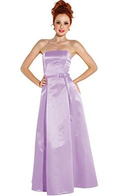 50s Strapless Satin Long Bridesmaid Prom Dress Formal Junior Plus Size 2X Lilac -- Details can be found by clicking on the image.