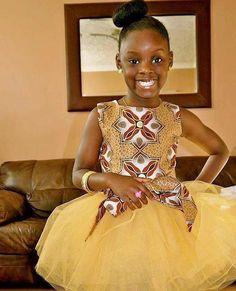 Beautiful Ankara Style For Your Little Girl - DeZango Celebrities Zone African Inspired Fashion, African Print Fashion, Africa Fashion, Ankara Fashion, African Children, African Women, African Print Dresses, African Dress, African Prints