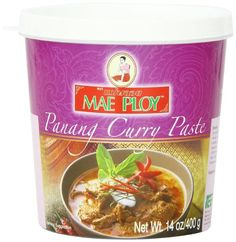 Curries are used extensively in Thai recipes and are pre-made mixtures of chilies, herbs and spices ground into a paste. Mae Ploy Brand is recognized in Thailan