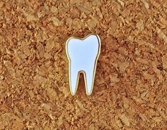 Tiny Enamel Tooth Pin