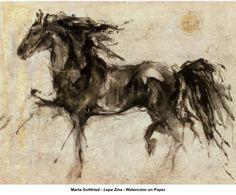 artwork: Marta Gottfried - Lepa Zina - Watercolor on Paper