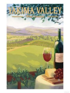 Yakima Valley, Washington - Wine Country Premium Poster