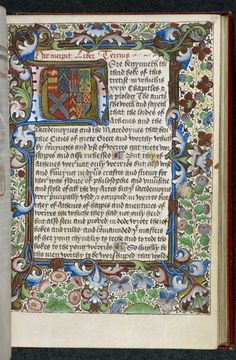 Illuminated initial--Arms of Queen Anne Neville                                                                                                                                                                                 More
