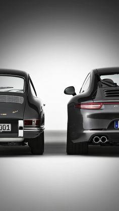 Porsche 911 old and new iPhone5 wallpaper #iphonewallpaper #Porsche #911 #porsche911