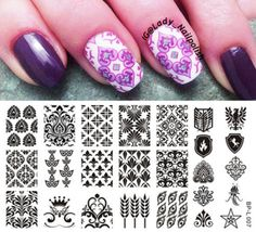 Vintage Style Nail Art Stamp Stamping Template Image Plate BORN PRETTY L007