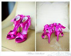 Hot Pink Wedding Shoes (Source: melissaschollaertphotography.com)