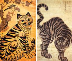 (North Korea) Tiger by Gang Hak-cheol (1974-  ). 강학철.