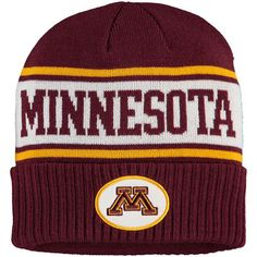 innovative design 8097a 5163a Nike Maroon Minnesota Golden Gophers Striped Sideline Cuffed Knit Hat