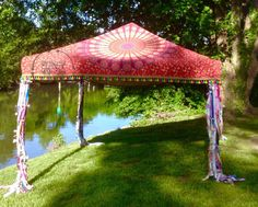 Hippie Canopy Cover Bohemian Market Tent Junk Gypsy by NeciHill