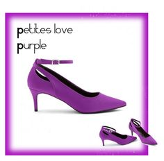 """""""Petite Shoes"""" by apetiteeye on Polyvore featuring New Look New Look, Kitten Heels, Shoe Bag, Purple, Polyvore, Stuff To Buy, Accessories, Shopping, Shoes"""