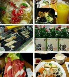 Shrimp sushi shabu-shabu & soju liquor chumchereum south Korea