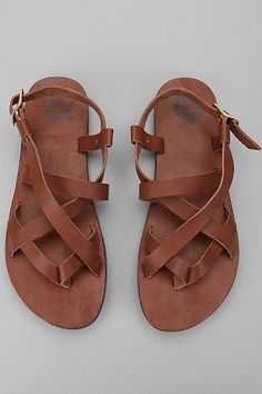 UO Leather Strap Sandal