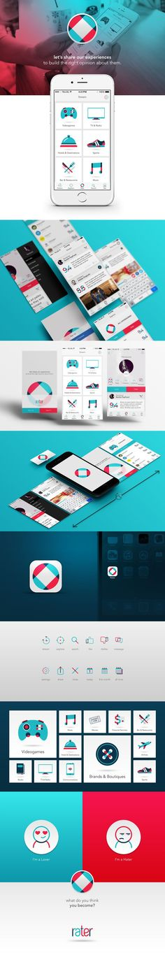 RATER on Behance: