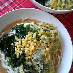 お昼は、超、簡単・・・・・ - 22件のもぐもぐ - ごま味噌天ぷらたぬきうどん~ by shinkmtf