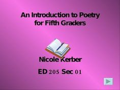 an-introduction-to-poetry-for-fifth-graders by kerbern via Slideshare