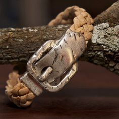 Natural plaited cork Bracelet with buckle - Silver Ribbon Gifts Plaits, Cork, Christmas Gifts, Ribbon, Gift Ideas, Natural, Bracelets, Silver, Jewelry