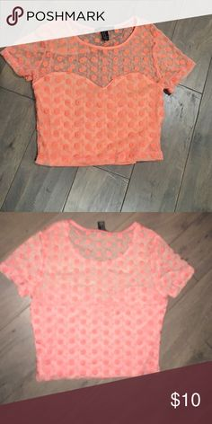 Haven't worn it Pink lace crop top Forever 21 Tops Crop Tops