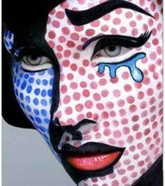 Pop Art - makeup ... for Halloween?