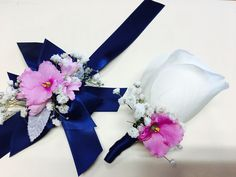 Father daughter dance corsage and boutonnière  Available at Www.Theflowerstudioonline.Com