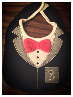 Tuxedo Bling Bib by on Etsy Baby Bling, Mini Me, Tuxedo, Trending Outfits, Craft, Unique Jewelry, Awesome, Handmade Gifts, Cute