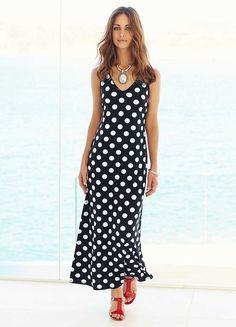 Large Polka Dot Print Maxi Dress