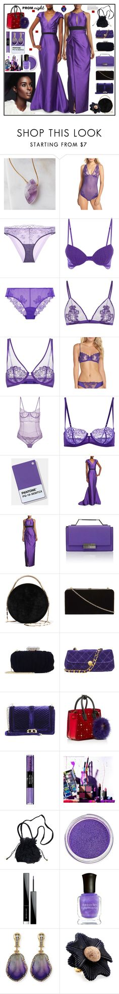 """""""Gowns for Malia and Sasha Obama"""" by yours-styling-best-friend ❤ liked on Polyvore featuring La Perla, J. Mendel, Eddie Borgo, Dorothy Perkins, Oscar de la Renta, Anna Sui, Rebecca Minkoff, MCM, Revlon and Urban Decay"""