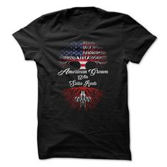 American Grown - Swiss Roots - #short sleeve shirts #vintage t shirt. BUY TODAY AND SAVE  => https://www.sunfrog.com/LifeStyle/American-Grown--Swiss-Roots.html?id=60505