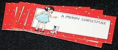 Lot of 20 Vintage Antique CHRISTMAS Gift TAGS Ephemera Early 1900s (11/23/2014)