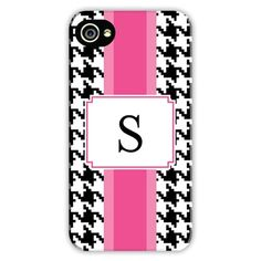 Boatman Geller Personalized Cell Phone Case Alex Houndstooth Black
