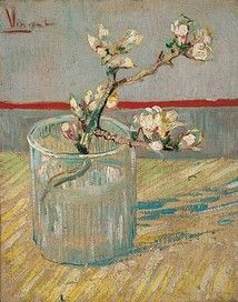 Sprig of Flowering Almond Blossom in a Glass, 1888  Vincent van Gogh (1853-1890)