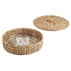 Artland® Garden Terrance Round 2pc Chip & Dip Serving Tray : Target