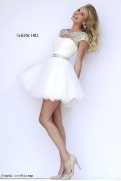 555e3e872ac Sherri Hill 11191 Cap Sleeve Short Dress. Sherri Hill Prom Dresses ShortSherri  Hill Homecoming DressesOpen Back ...