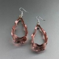 Ruffled Copper Tear Drop Earrings. Simply Stunning!   http://www.johnsbrana.com/ruffled-copper-tear-drop-earrings.html  $175.00 #handmade #copper #earrings