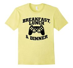 Breakfast Lunch And Dinner T-Shirt | Video Game Shirt Video_game games_shirt games_tee