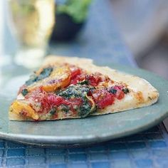 Pesto Pizza with Butternut Squash | CookingLight.com Theres a better pic at http://greekfood-recipes.com/posts/Pesto-Pizza-with-Butternut-Squash-CookingLightcom-56656