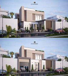Black Window Trims, Black Windows, House Elevation, Villa Design, Facade House, Exterior Design, Modern Contemporary, Cribs, 3d