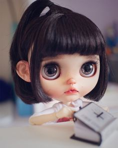 Cute Baby Dolls, Beautiful Barbie Dolls, Character Design Animation, Creepy Dolls, Custom Dolls, Ball Jointed Dolls, Doll Face, Big Eyes, Blythe Dolls