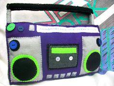 80's Boombox Decorative Pillow