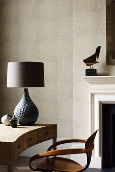 Created with chalky inks giving this Zoffany wallpaper design the stone work effect a rough tactile feel and a beautiful realistic look.