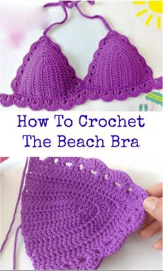 crochet Beach bra Sie Badebekleidung Ganchillo How To Crochet The Beach Bra Source by ideas diy Motif Bikini Crochet, Bikinis Crochet, Crochet Bra, Crochet Woman, Crochet Clothes, Crochet Stitches, Free Crochet, Crochet Patterns, Beach Crochet