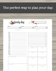 Day Planner Printable, Health, Fitness, Finances, Schedule, Notes, Gratitude, Goals