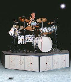 Neil Peart Drum Kit Wallpaper