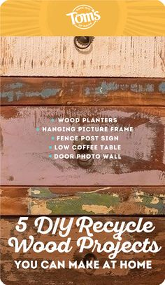These DIY recycled wood projects provide you with a creative outlet while reducing the need to discard wood. Picture Frame Hangers, Hanging Picture Frames, Hanging Pictures, Diy Recycle, Recycling, Low Coffee Table, Wood Planters, Creative Pictures, Fabric Strips