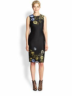 Giambattista Valli Silk & Wool Floral-Print Dress