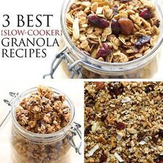 Homemade granola is made ultra-simple with the slow cooker. If you'd told me several years ago that I'd be making granola with myCrock-Pot, I wouldn't have believed you. Everything in my granola-loving-world...